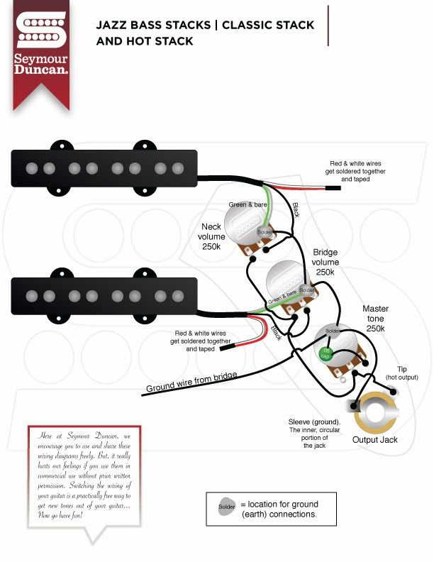 wiring diagram duncan classic stack single humbucker wiring diagram york wiring diagrams pin by bob gros on basse pinterest bass, guitars and guitar design dual humbucker wiring