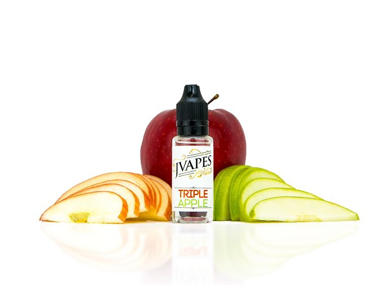 What happens when you deliberately concentrate the essence of several varieties of apples?  Triple Apple E-Liquid of course!  If you love our Apple E-Liquid and want an even bigger apple bite, Triple Apple does the trick.
