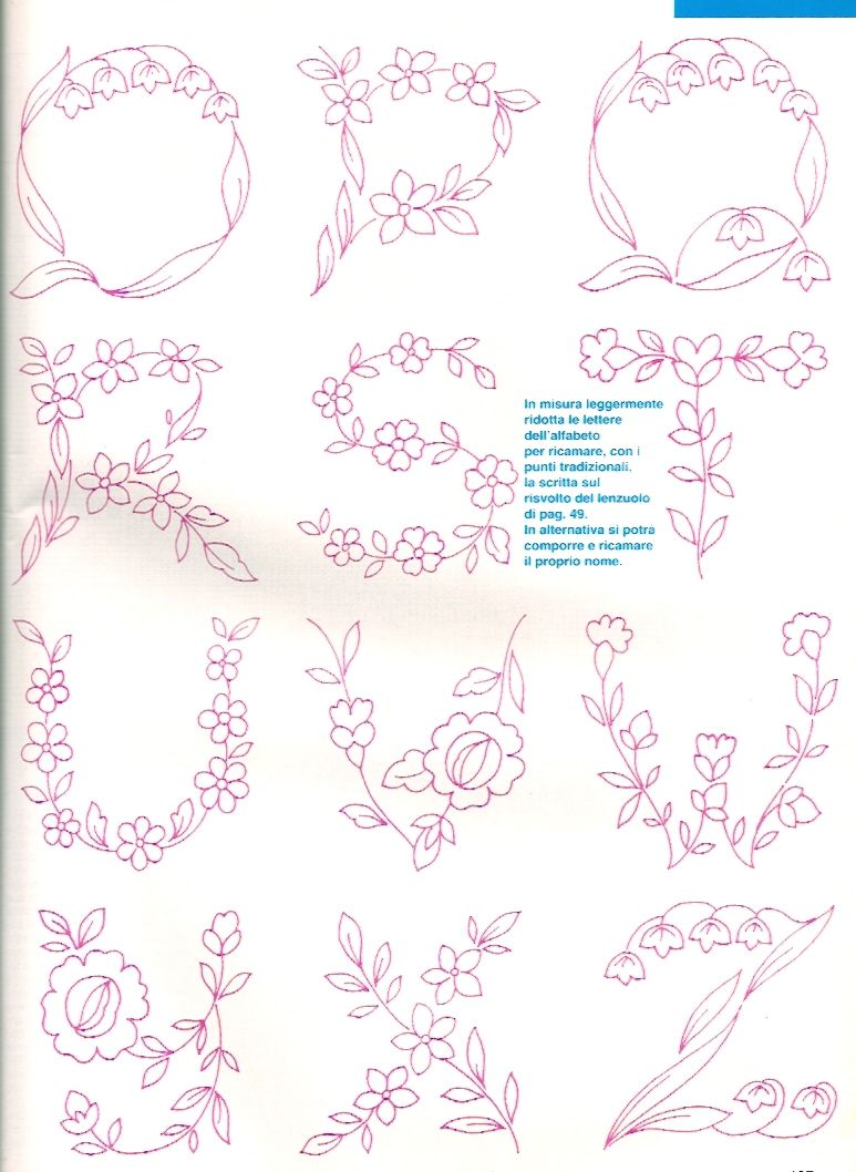 Pin de Rita Tizzi en Alfabeto fiorito | Pinterest | Alfabeto ...