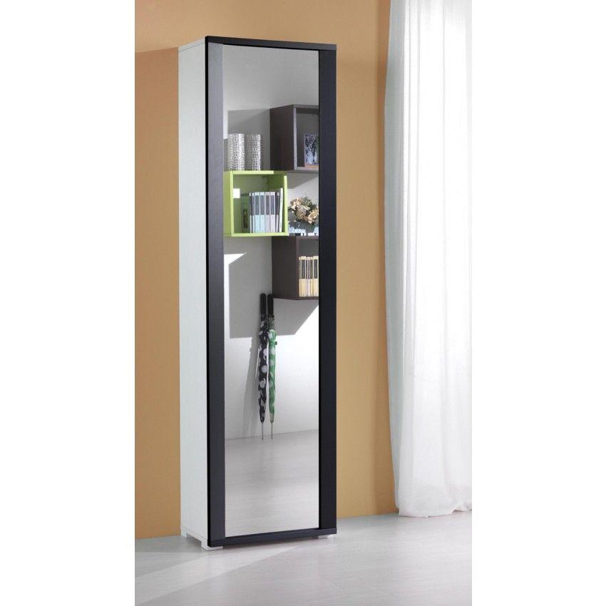 Mobile contenitore con anta a specchio welcome home - Scarpiera specchio ikea ...