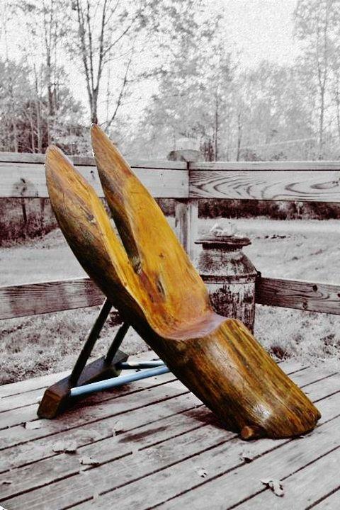 Rustic boomarang chair