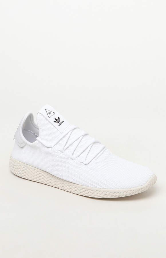 premium selection e8764 94bf0 adidas x Pharrell Williams Tennis Hu White Shoes