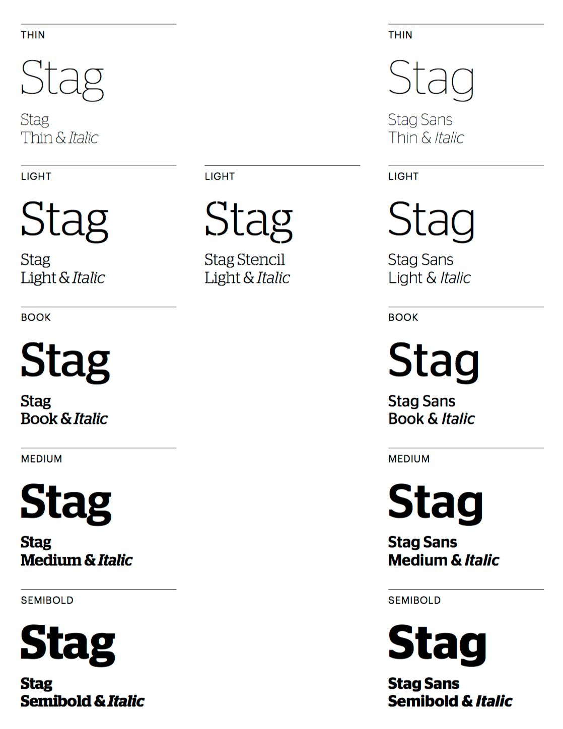 Stag Book Font