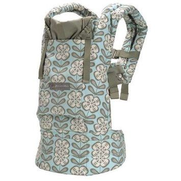 5271ad60aea Amazon.com  ERGObaby Organic Baby Carrier w  Petunia Pickle Bottom Fabric -  Peaceful