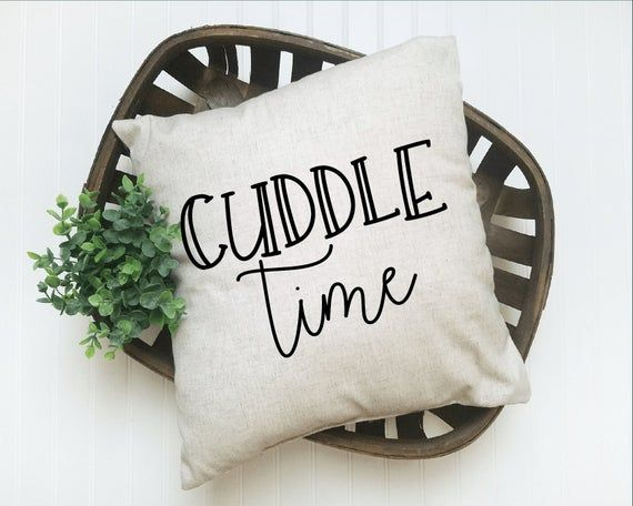 Cuddle Time Pillow Cover | Decorative Pillow | Throw Pillow | Pillow Cover | Gift Idea | Home Decor