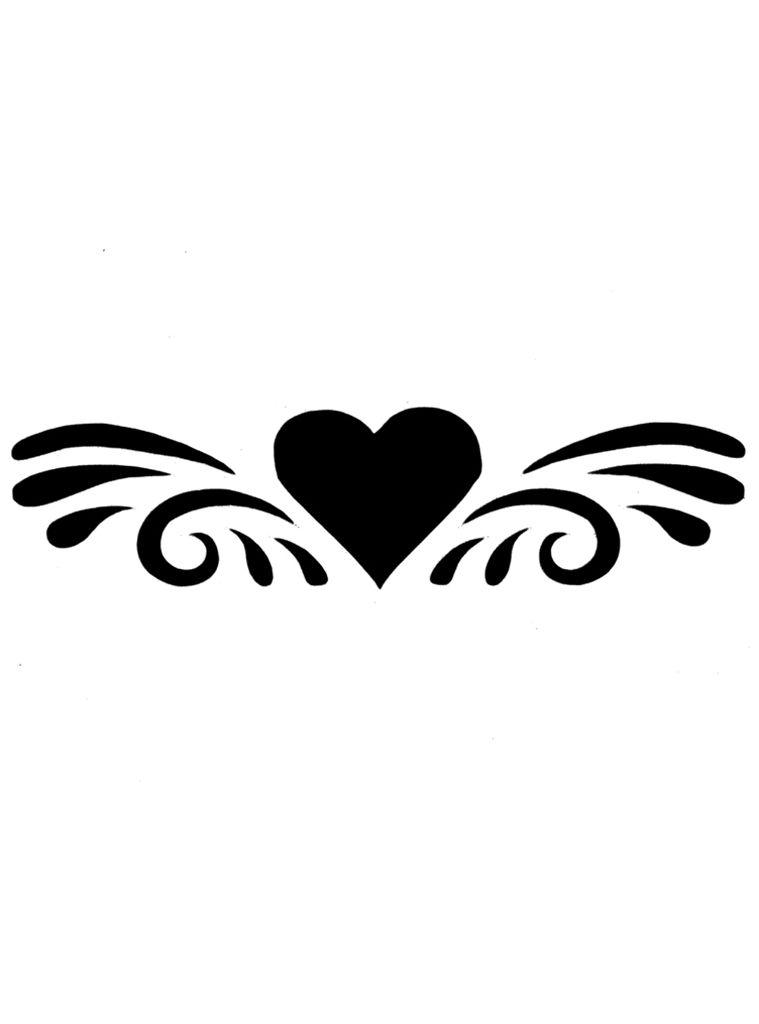 Simple Heart Tattoo Designs Splashed Heart Glitter Spray Tattoo Stencil Schminken Patronen Cricut