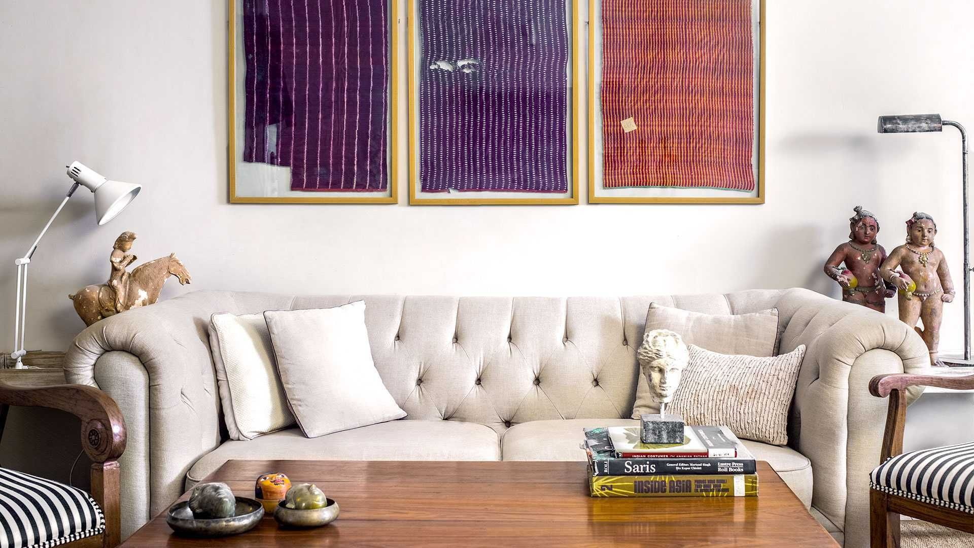 Walking the line between tradition and modernity is a delicate balancing act. Sanjay Garg's New Delhi home, much like his designs, carries it off with the grounded flair he is known for