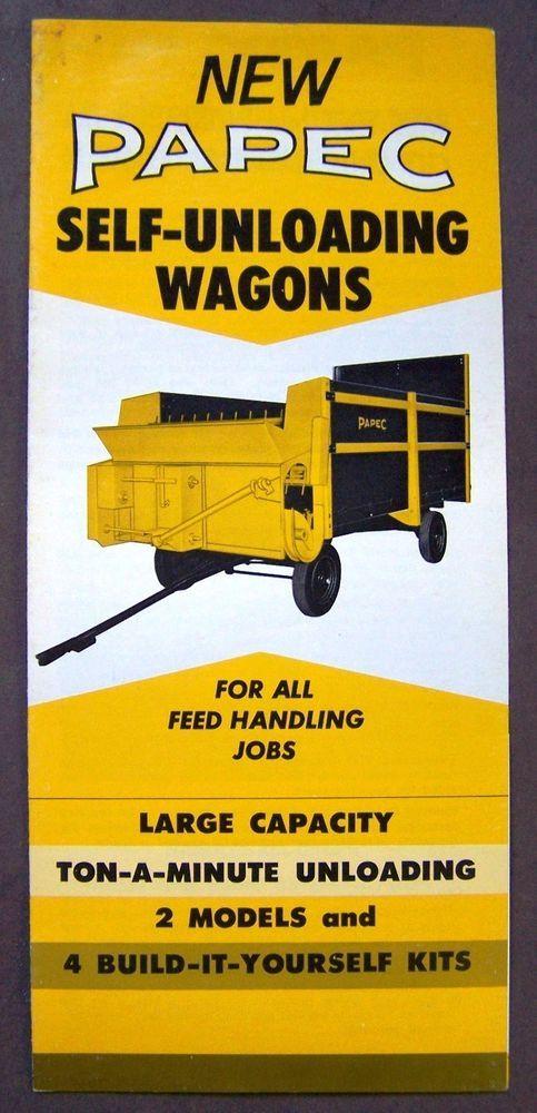 Papec Self Unloading Wagons Dealer Sales Brochure brochures - sales brochure