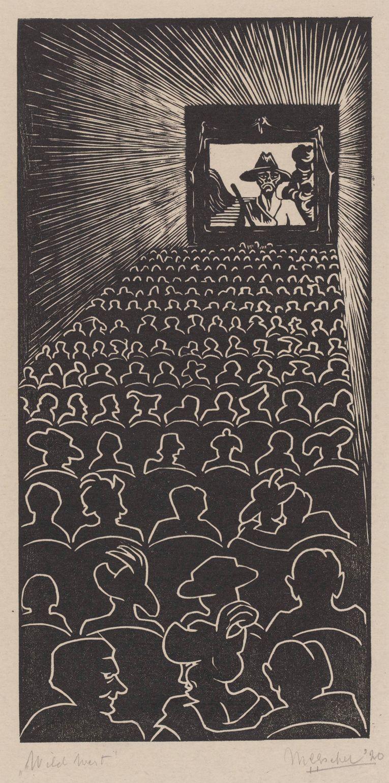 M.C. Escher - Wild West (1920)