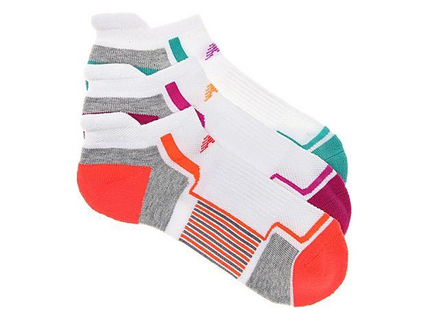 Women Tab Performance Women's No Show Socks - 3 Pack -White/Multicolor