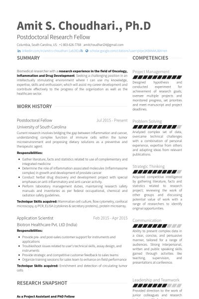 postdoctoral fellow Resume example  Cv  Resume objective sample Resume s Resume objective