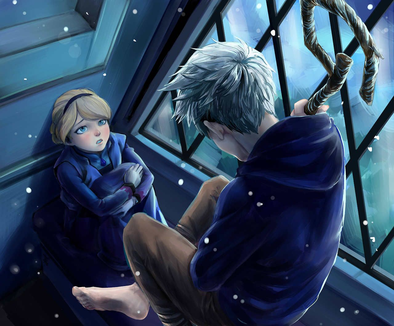 Usually I don't like the idea that Jack knew about Elsa when she was little but I love this picture <3