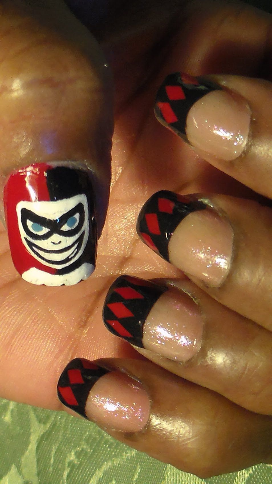 Harley Quinn Nail Art Try These Fun Nails For Anytime Enjoy And