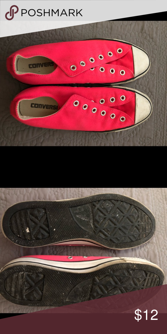 7b0eda4563d9 Pink Converse Chuck Taylors No laces. Women s 10. Good used condition.  Converse Shoes Sneakers