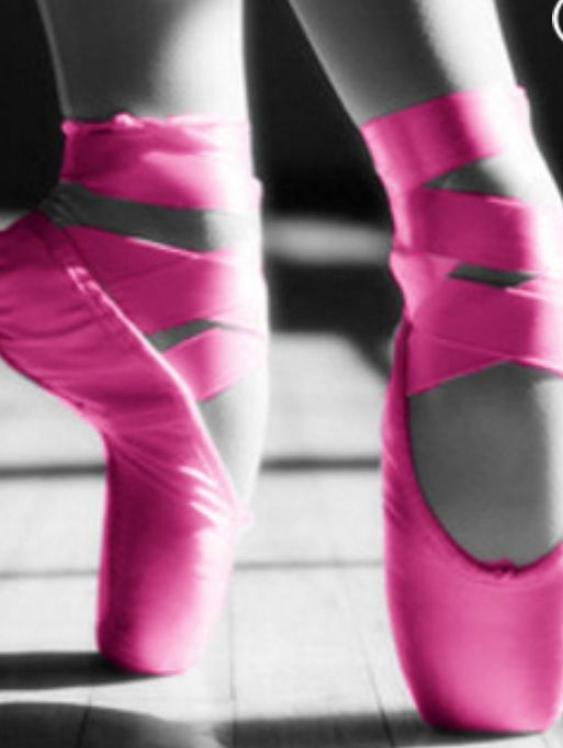 fd29f7e61002a Pink pointe shoes with black and white back ground | Dance | Pink ...