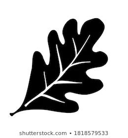 Oak Leaf Vector Illustration Icon Black Stock Vector Royalty Free 1818579533 Leaves Vector Vector Illustration Oak Leaf