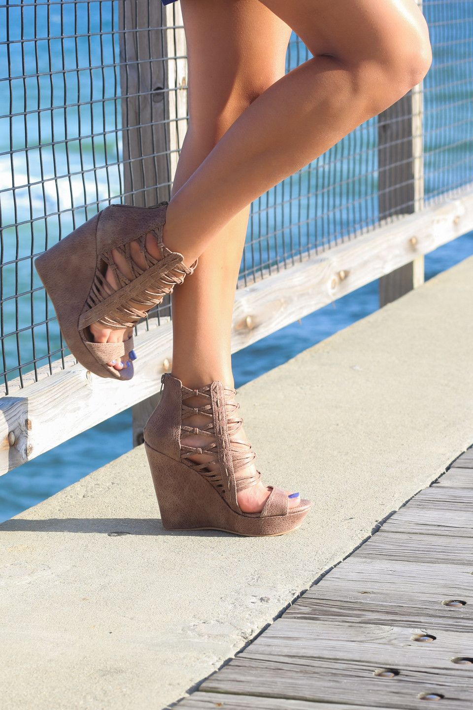 Not Rated Cecil Taupe Wedges