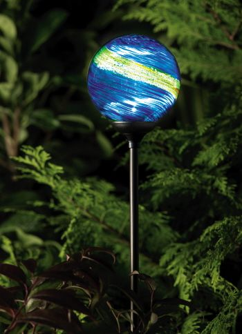 Unique Garden Solar Lights | Solar Garden Globe Light   Murano Midnight