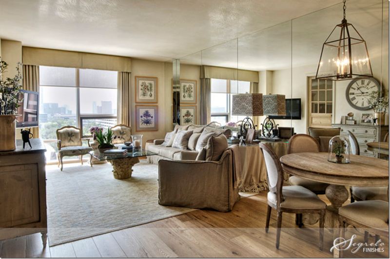 Kara Childress, interior designer, decorated this condo for her parents who were down-sizing. I love the way it opens the space.