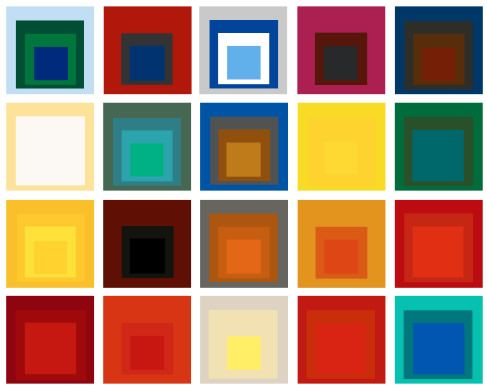 Josef Albers | Design and Graphic | Pinterest | The square, Colors ...