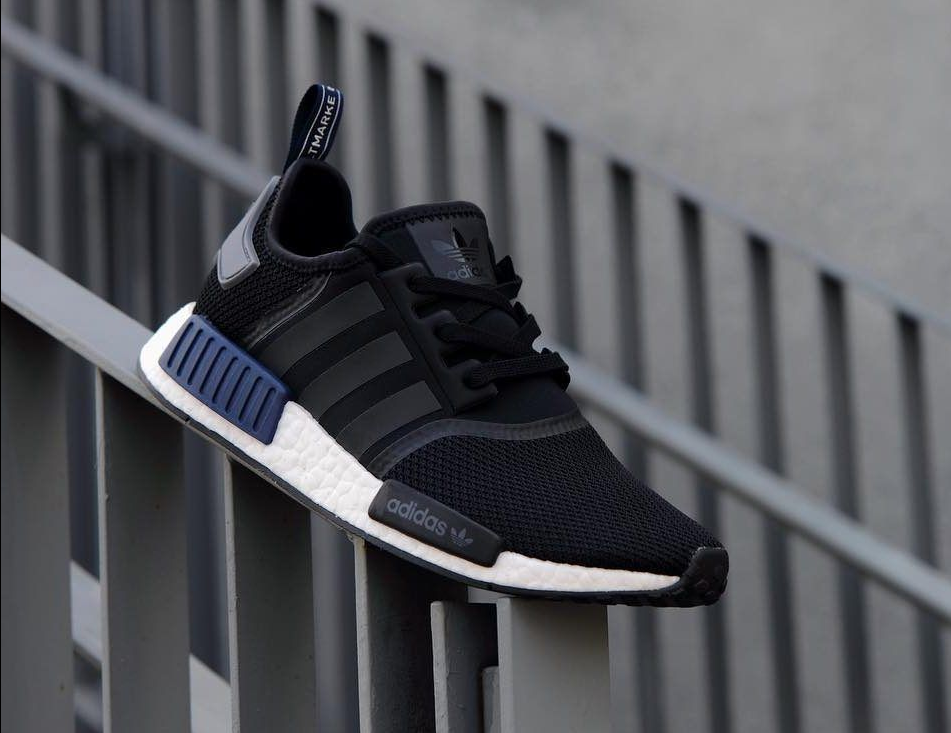Adidas NMD R1 Boost Core Black Dark Blue Sz 9 12 Boost S76841 Brand New Black UK Online Outlet St
