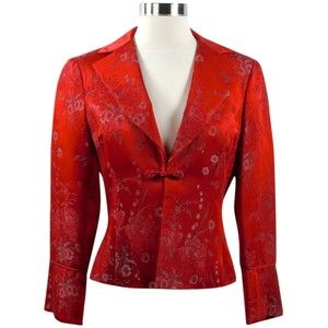 Pre-owned Nanette Lepore Cropped Red Blazer