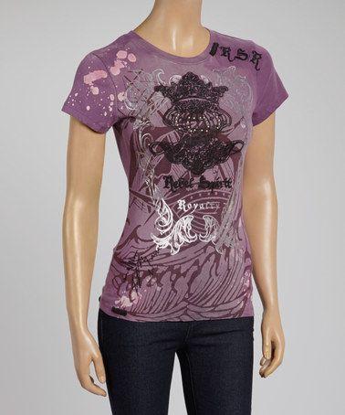 Look what I found on #zulily! Dark Purple Royal Logo Crewneck Tee - Women #zulilyfinds
