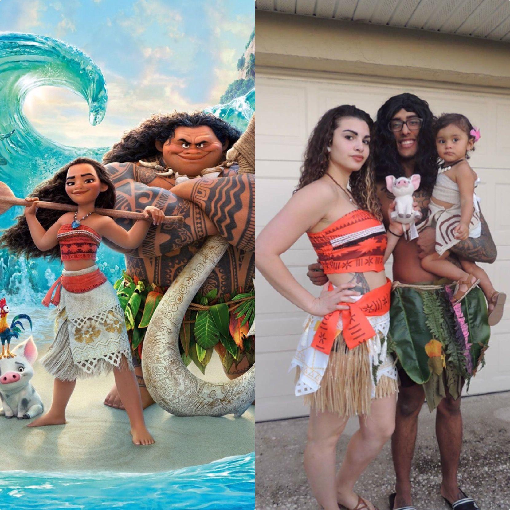 Family Moana costumes! Moana costume, Disney films, The