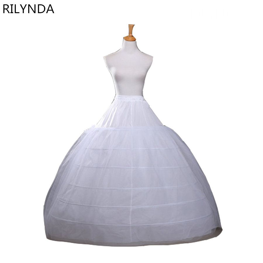 Click to Buy << Ball Gown Petticoats For Wedding Dresses Elastic 6 ...