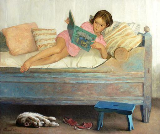 Silêncio, 2008    Tatyana Deriy (Rússia, 1973)    óleo sobre tela, 50 x 60 cm
