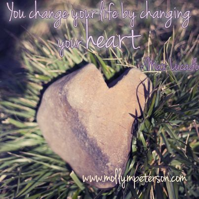 """You change your life by changing your heart"" (photo by www.mollympeterson.com) #heartstone #heart"