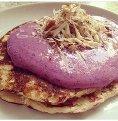 Proteinpandekage med skyr og blåbær | Opskrift - sunde, protein, low-carb