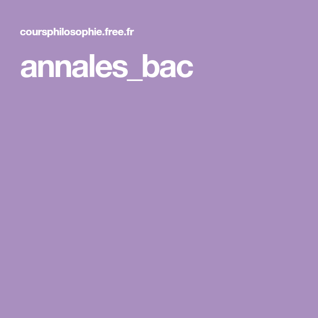 Annales dissertation philosophie