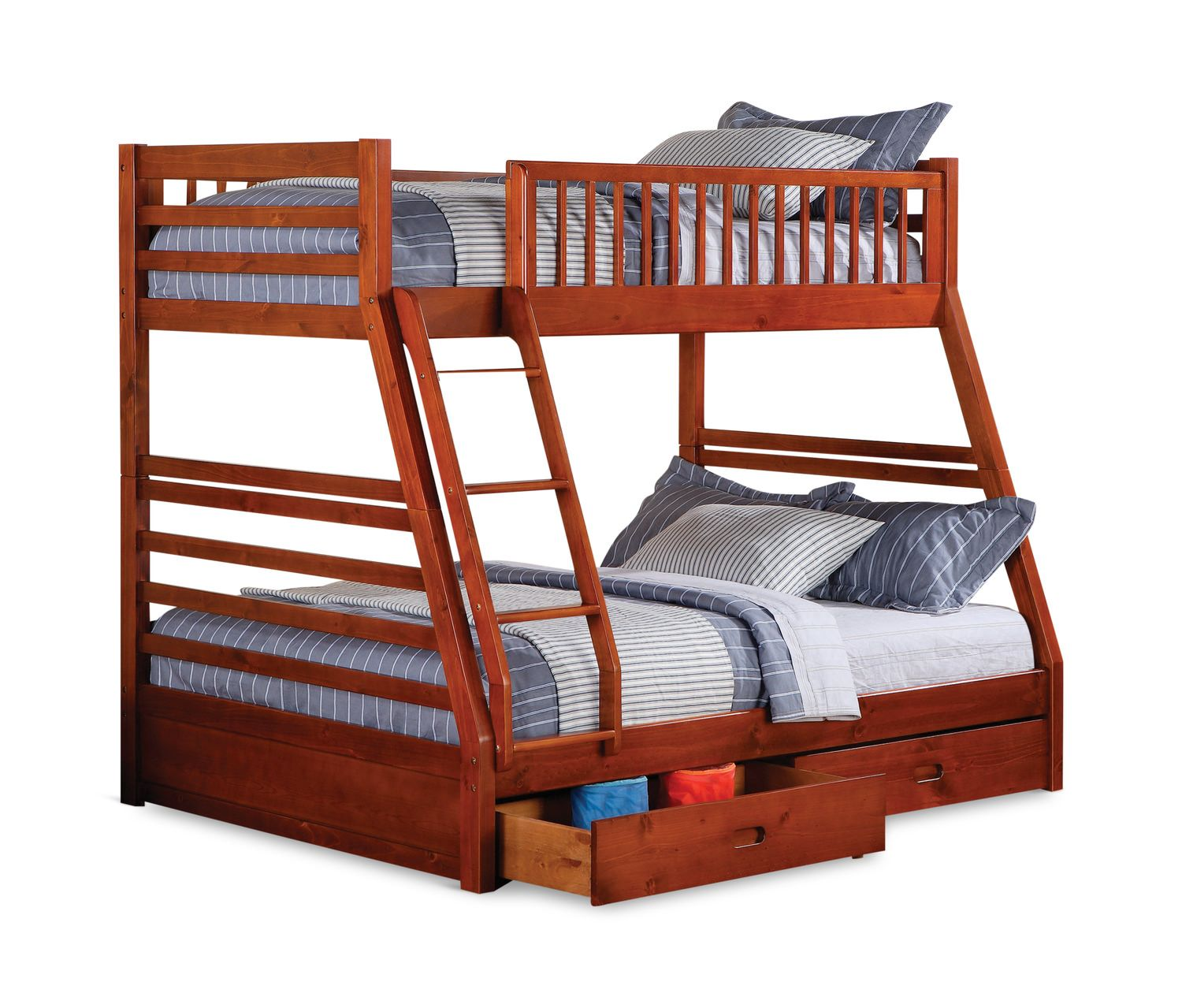 Twin over full loft bed with stairs   Lakeview Twin over Full Bunk Bed  Magnolia house  Pinterest