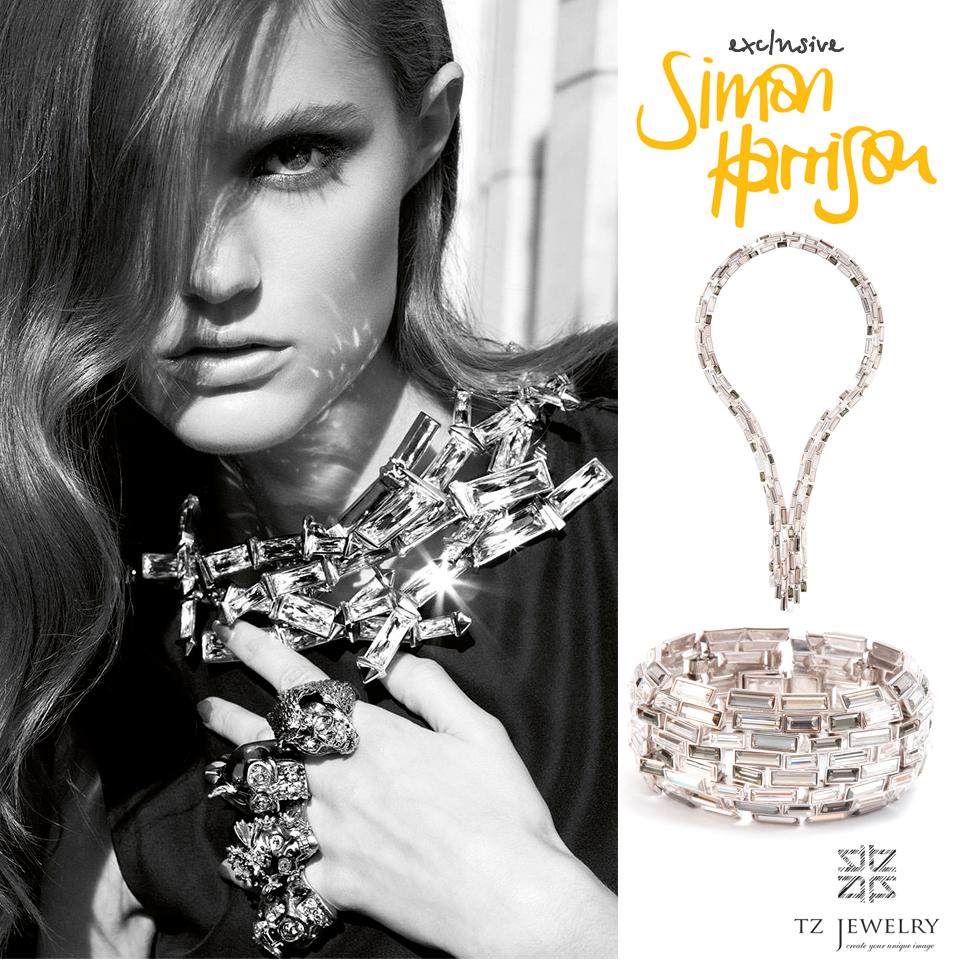 Caddis Cascade collection from Simon Harrison #SimonHarrison #Swarovski #crystals #exclusive #jewelry #TZjewelry #unique