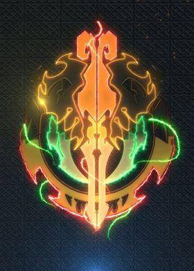 Metal Poster 3D Overlord Emblem