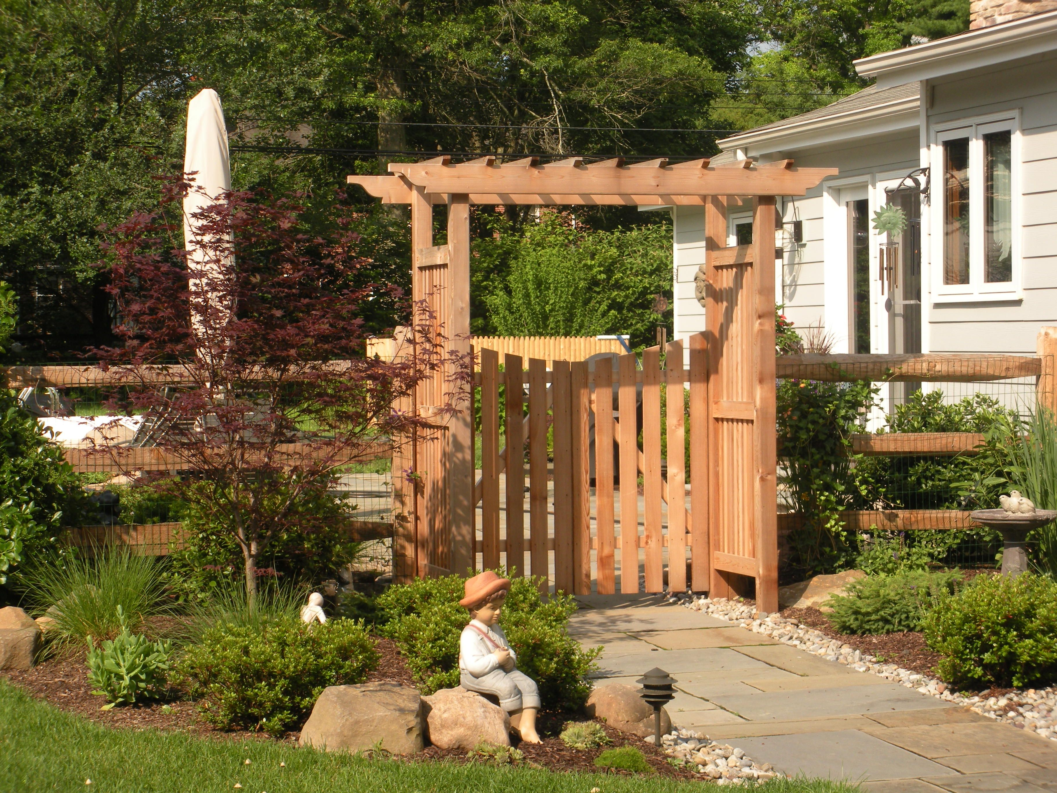 Stylish Outdoor Gates And Fences 4 Fence Gate Arbor