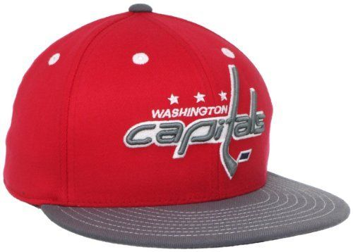 NHL Washington Capitals Flat Visor Flex Fit Hat adidas.  12.65 ... a04bc73a747