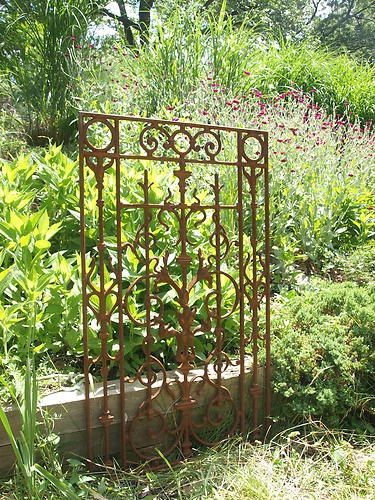 Cast Iron Gate Section Ornate Grate
