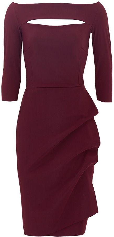 c0cdc76fc15 La Petite Robe di Chiara Boni Burgundy Kate Sheath