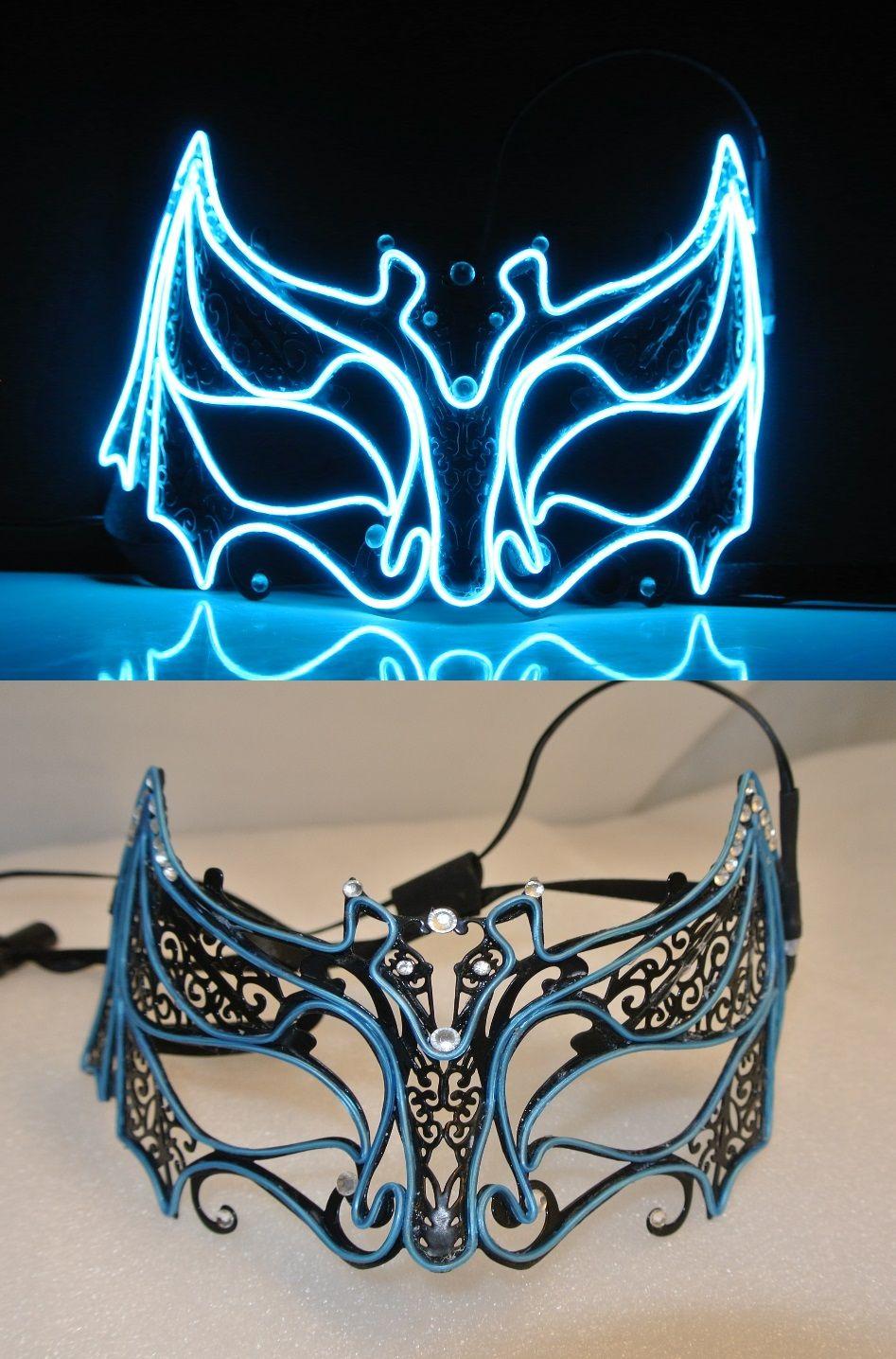 Custom EL wire mask. Qitawear.com | JWR Designs (qitawear.com ...