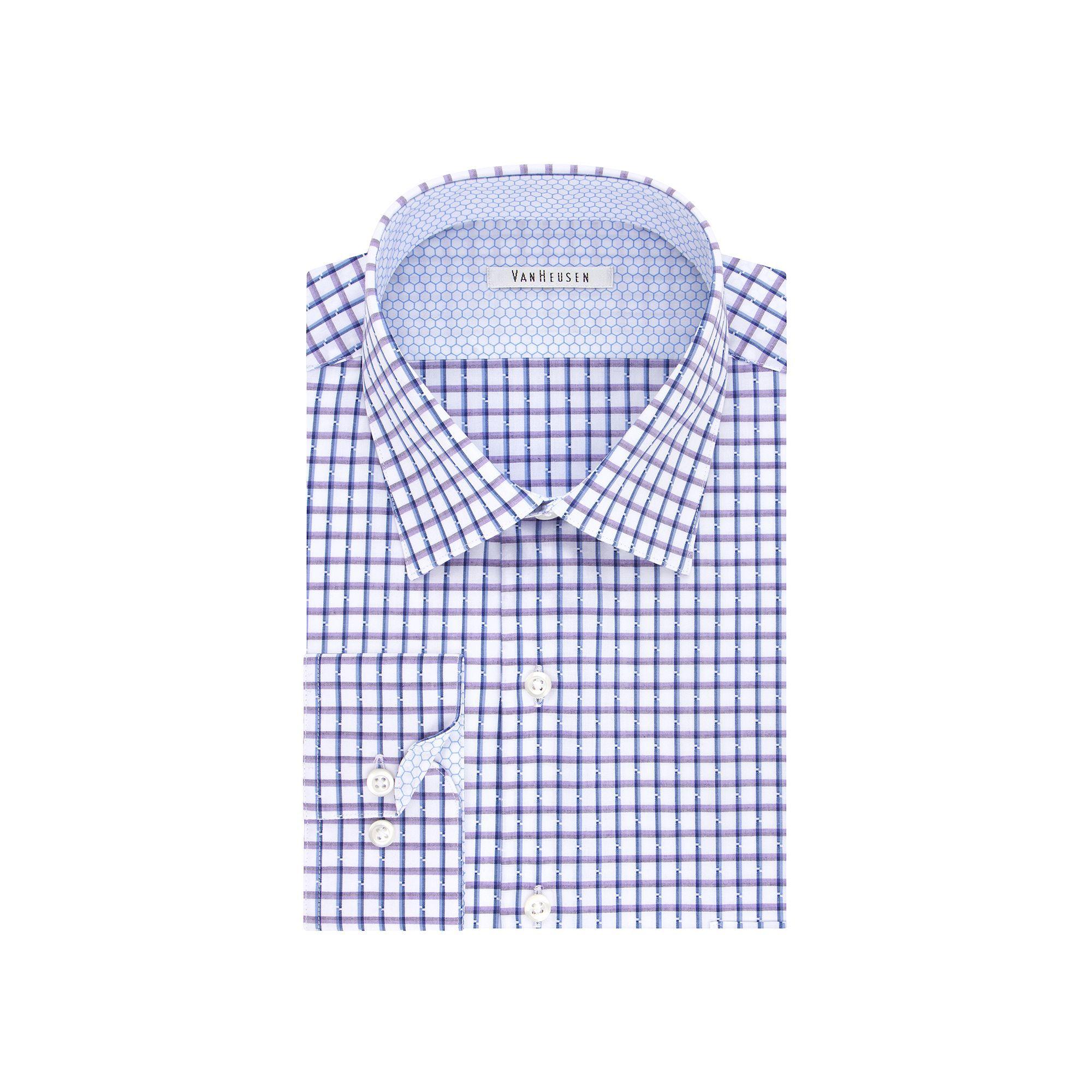 Men S Van Heusen Air Regular Fit Stretch Dress Shirt Stretch Fabric Shirt Dress Collar Dress