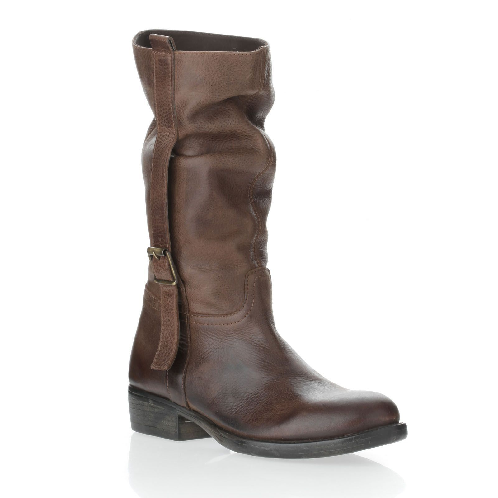 cuir en and INUOVO BagsBottes Bottes marronShoes cuir HYbIe9EWD2