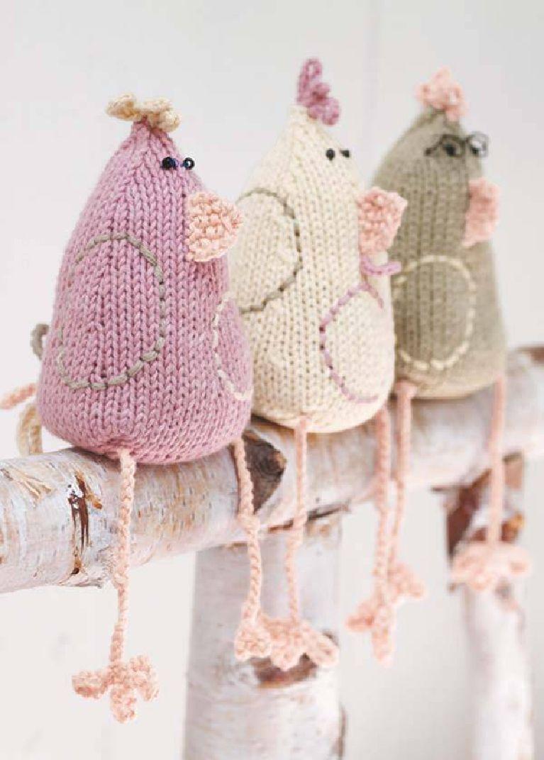 Gestrickte Hühnchen | velikonoce | Pinterest | Stangen, Hühner und Garn