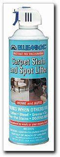 Carpet Stain And Spot Lifter Net Wt 22 Oz 623 G Aerosol Case Of 6 900 C Bluemagic Automotivepartsa With Images Carpet Stains Carpet Spot Remover Stain