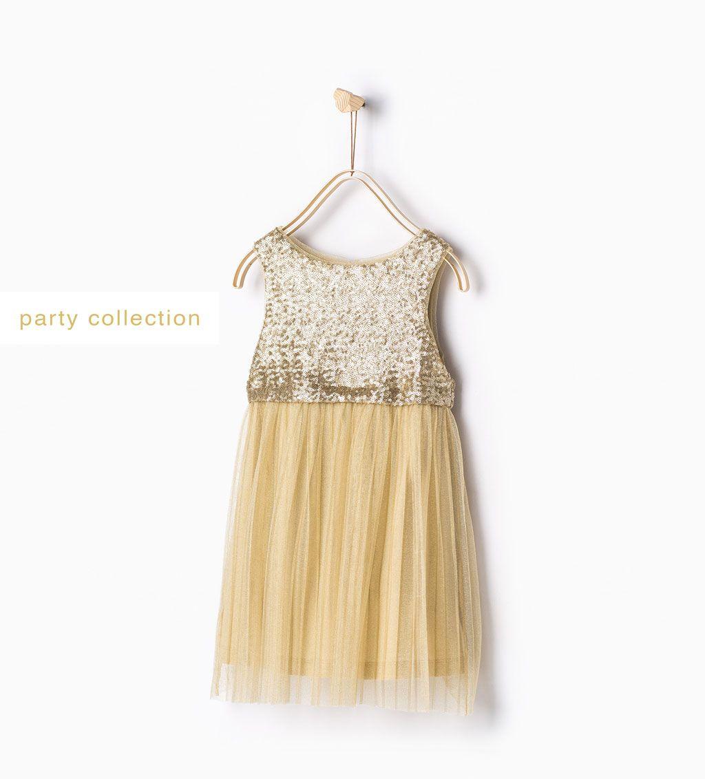 Kleid mit Pailetten und Tüll-Formal-Kleider-Mädchen   4-14 Jahre ...