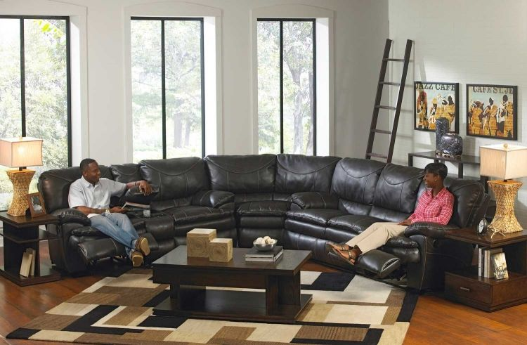 Perez Power Reclining Sectional Sofa Set Steel With Images