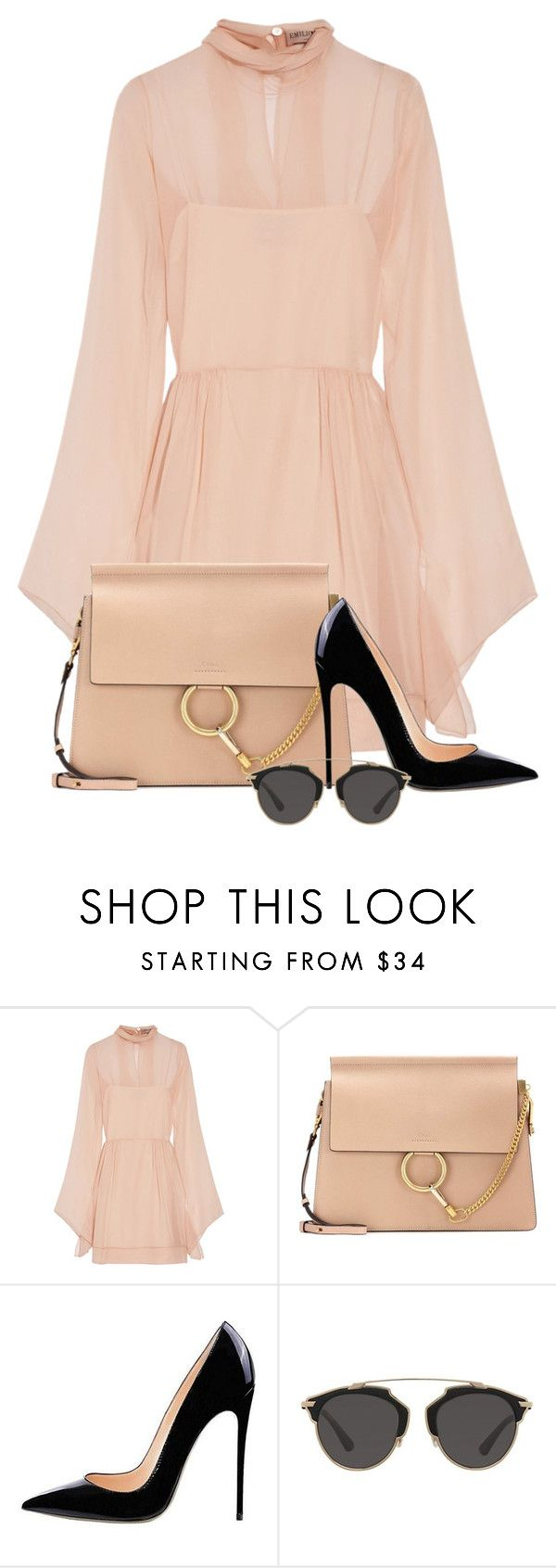 """""""TFPOutfit"""" by burlsgurl ❤ liked on Polyvore featuring Emilio Pucci, Chloé and Christian Dior"""