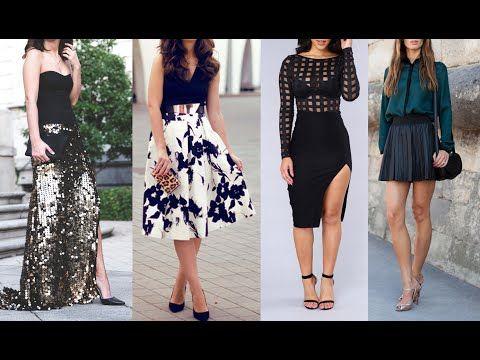 07c4a614ec Faldas exclusivas moda 2017 2018 - YouTube