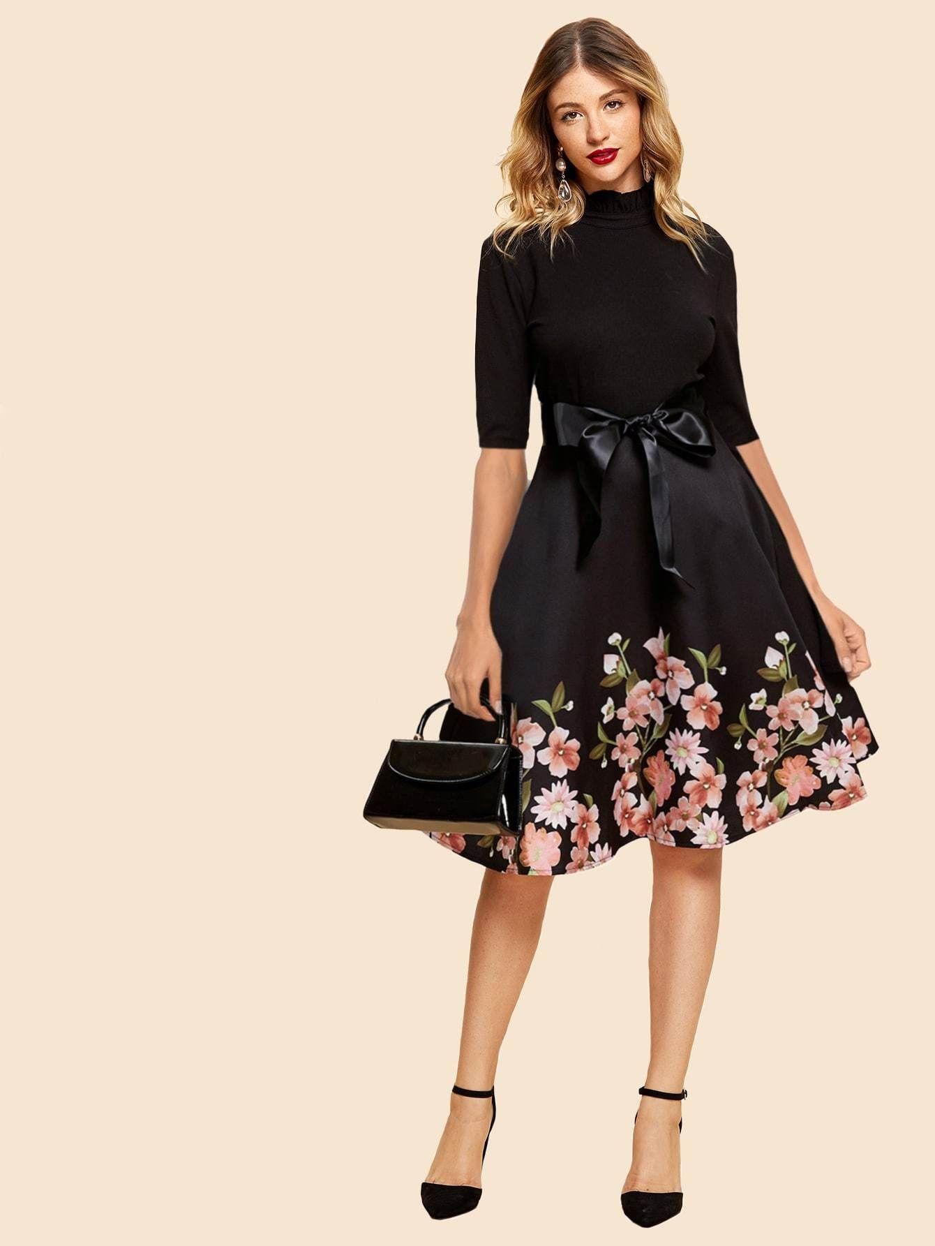 65992826e8 50s tie front floral print dress. #dresses #clothing #women #fashion ...